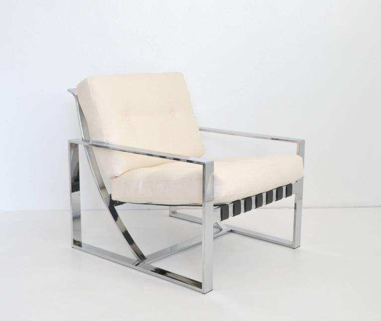 Pair of Italian Neo Rationalist Club Chairs 4