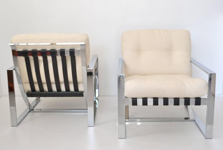 Pair of Italian Neo Rationalist Club Chairs 10