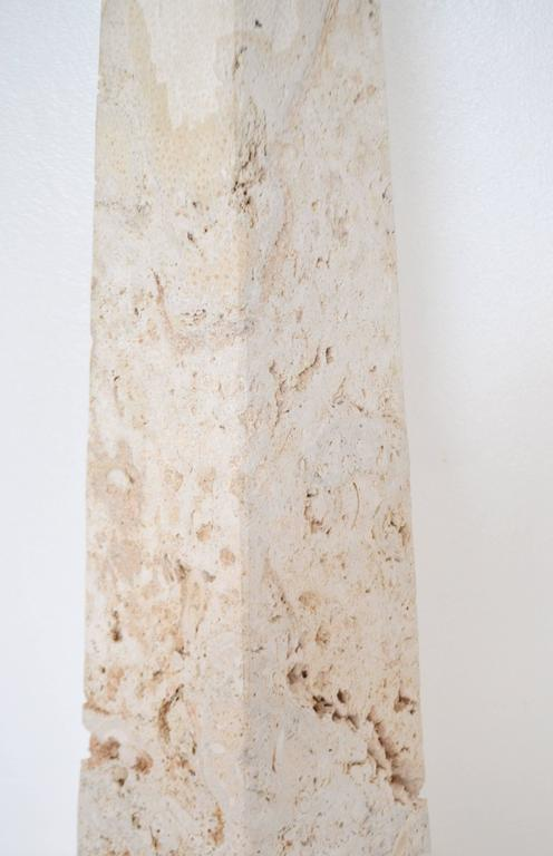 Mid Century Coral Stone Pyramid Form Floor Lamp For Sale