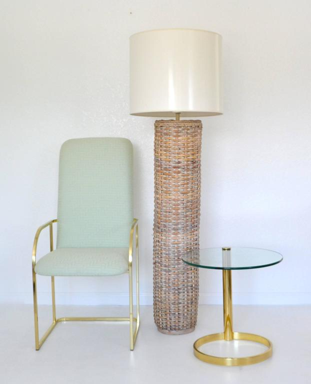 Mid century woven rattan cylinder form floor lamp for sale at 1stdibs striking mid century woven rattan cylinder form floor lamp circa 1960s this sculptural mozeypictures Gallery