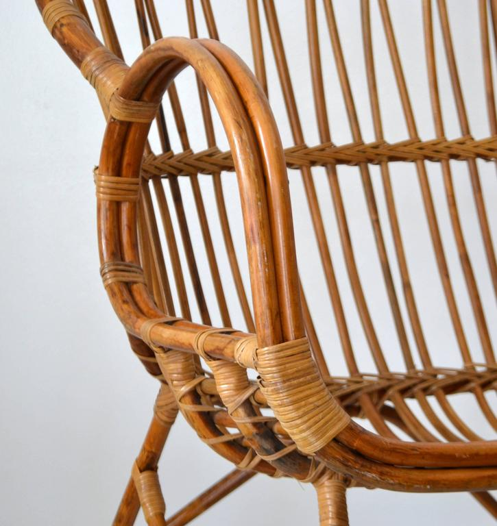 Mid-Century Sculptural Bent Bamboo Settee For Sale 2
