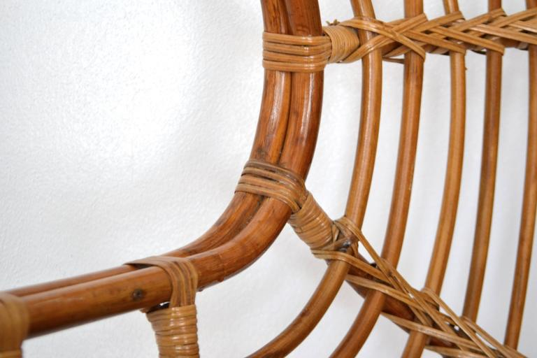 Mid-Century Sculptural Bent Bamboo Settee For Sale 1