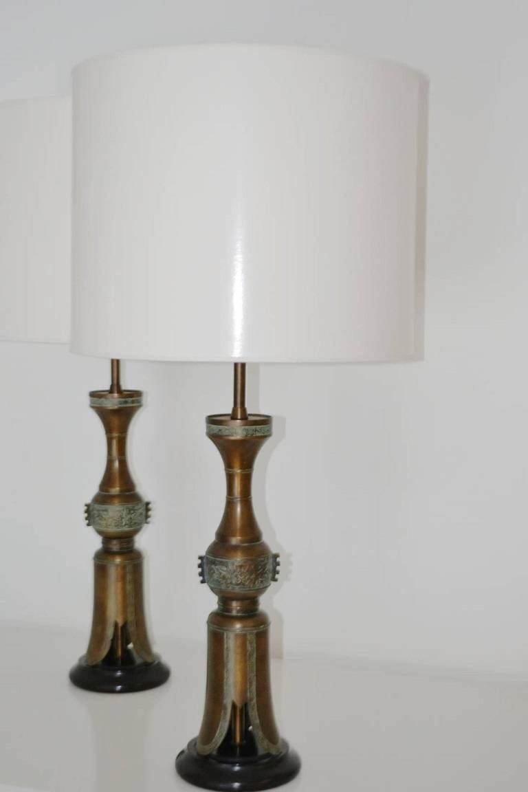 Mid-Century Modern Pair of Mid-Century Table Lamps For Sale