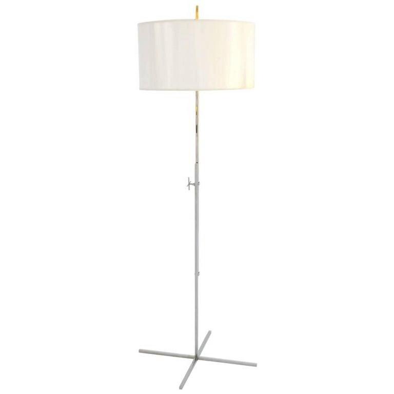 Post-Modern Chrome Floor Lamp