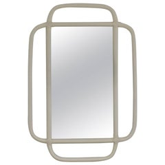 Midcentury Bent Bamboo Wall Mirror