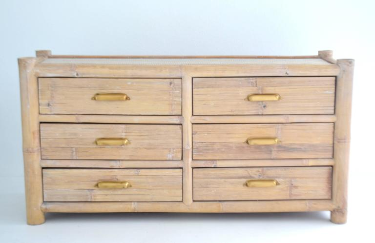 Anglo-Indian Cerused Bamboo Sideboard For Sale