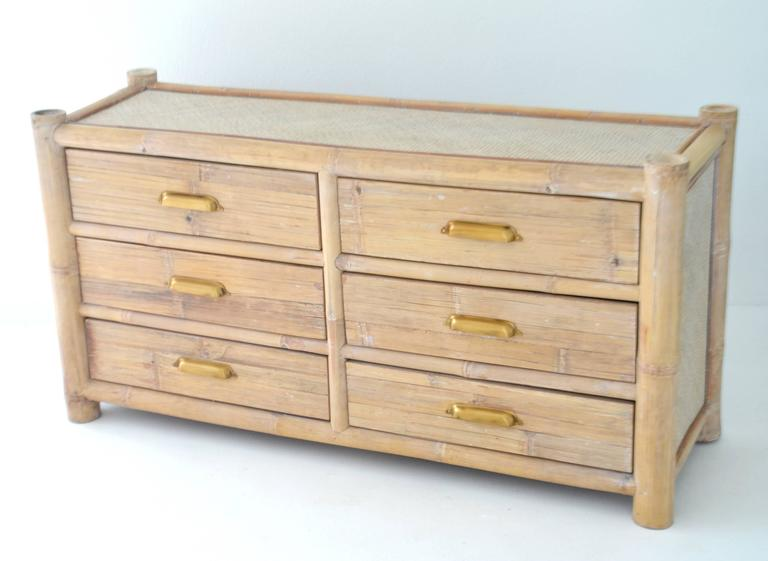 Cerused Bamboo Sideboard For Sale 1