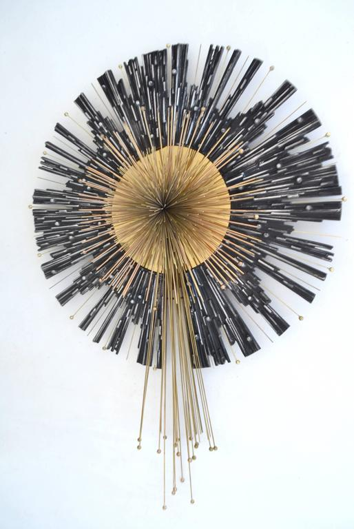 Brutalist Mixed Metal Abstract Geometric Form Sculpture by Curtis Jere 2