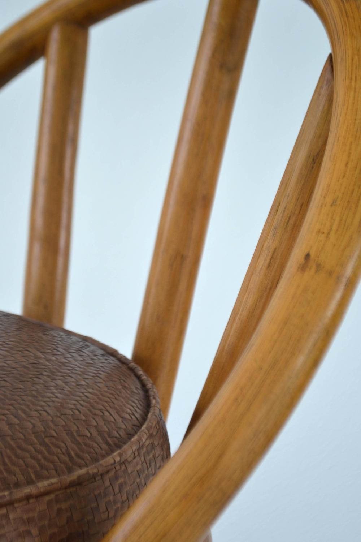 Set of four bent bamboo bar stools at 1stdibs for Bent bamboo furniture