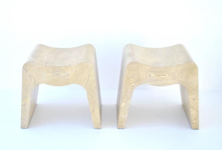 Post-Modern Pair of French Postmodern Stools For Sale