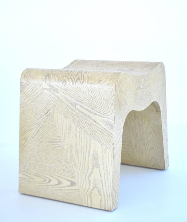 Late 20th Century Pair of French Postmodern Stools For Sale