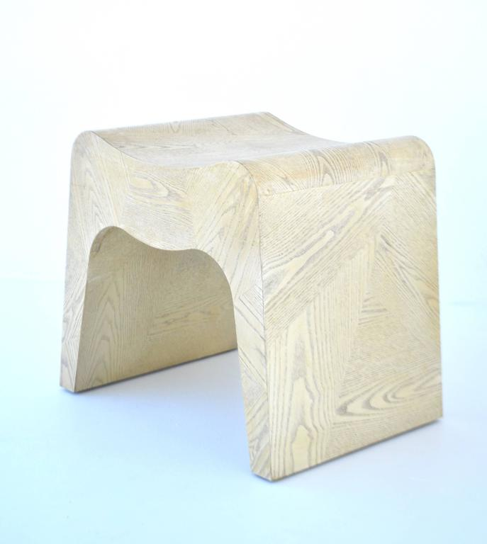 Pair of French Postmodern Stools In Excellent Condition For Sale In West Palm Beach, FL
