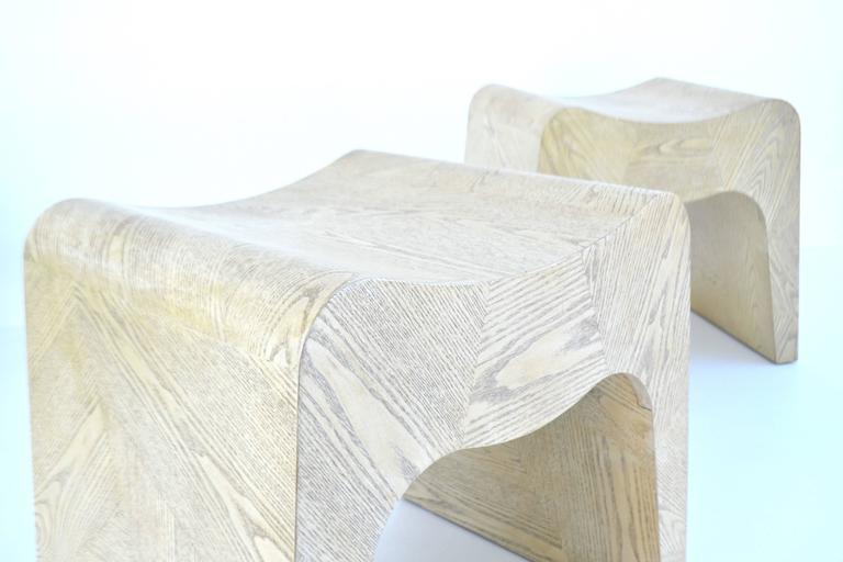 Pair of French Postmodern Stools 6