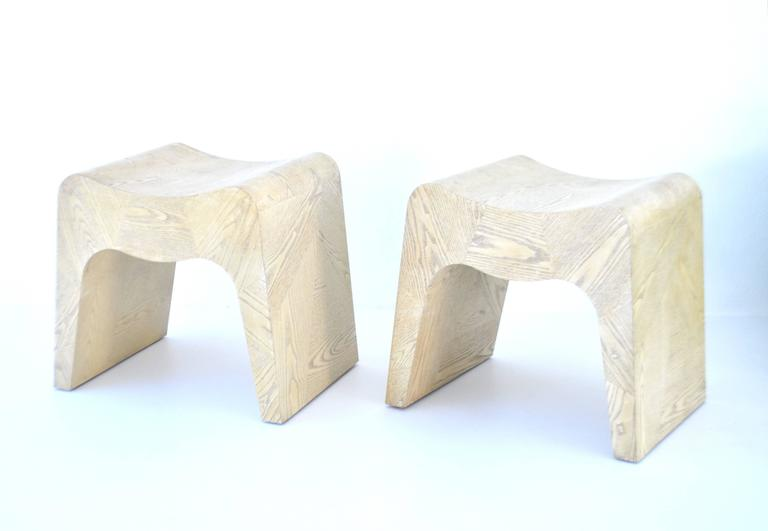 Pair of French Postmodern Stools For Sale 2