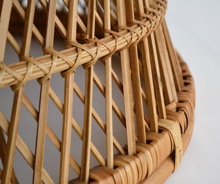 Midcentury Woven Rattan Cocktail Table 8