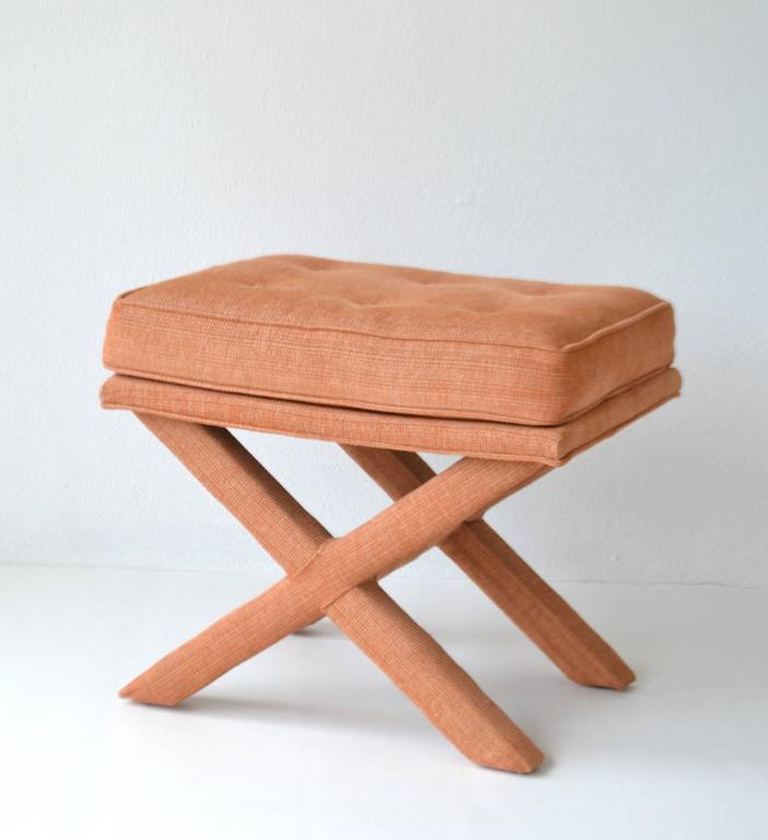 Mid-20th Century Pair of Mid-Century X-Base Stools/Benches For Sale
