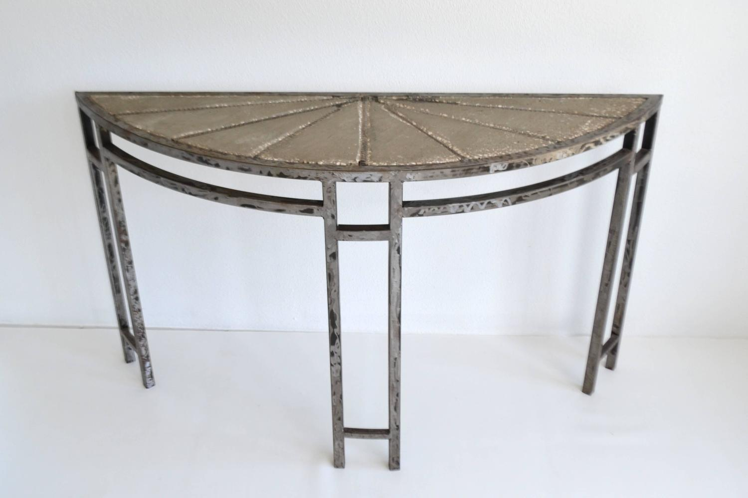 Brutalist console table for sale at 1stdibs for Table 52 oak brook
