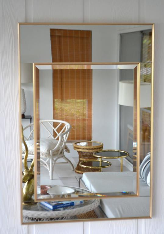 American Hollywood Regency Mirror-Framed Wall Mirror For Sale