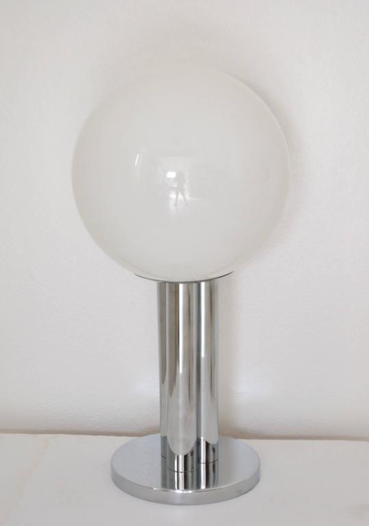 American Mid-Century Chrome Table Lamp For Sale