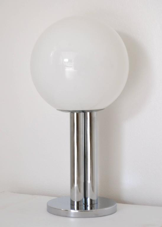 Mid-20th Century Mid-Century Chrome Table Lamp For Sale