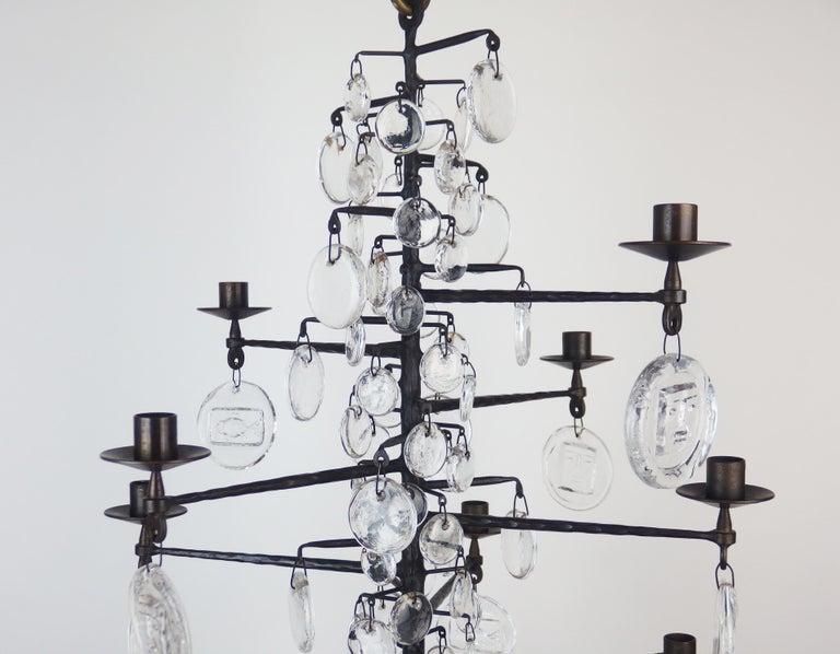 Mid-Century Modern Chandelier by Erik Hoglund For Sale