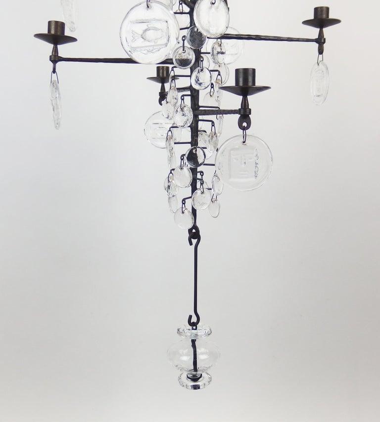 Swedish Chandelier by Erik Hoglund For Sale