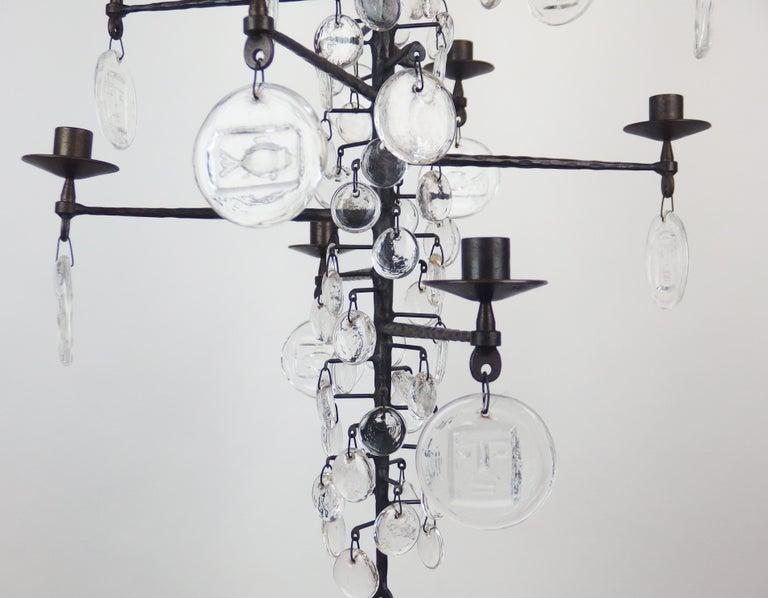 Chandelier by Erik Hoglund In Good Condition For Sale In Janvry, Essonne