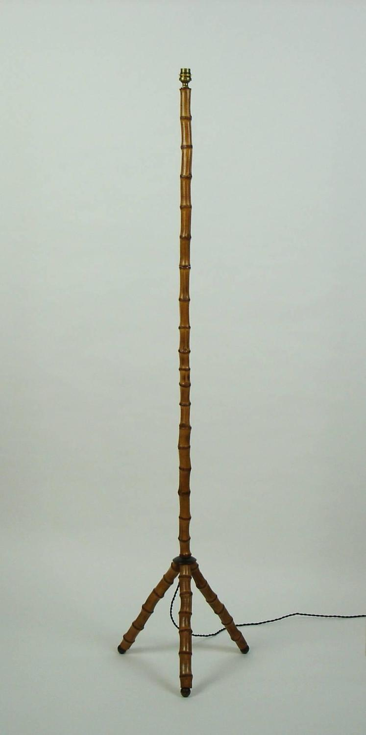 Bamboo Floor Lamp by Jacques Adnet at 1stdibs