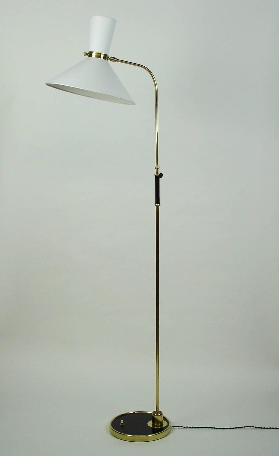 1950s floor lamp by lunel at 1stdibs. Black Bedroom Furniture Sets. Home Design Ideas