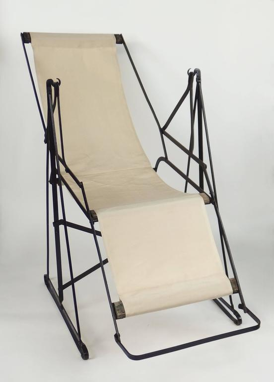 Modernist art deco swinging chaise longue for sale at 1stdibs for Chaise longue deco