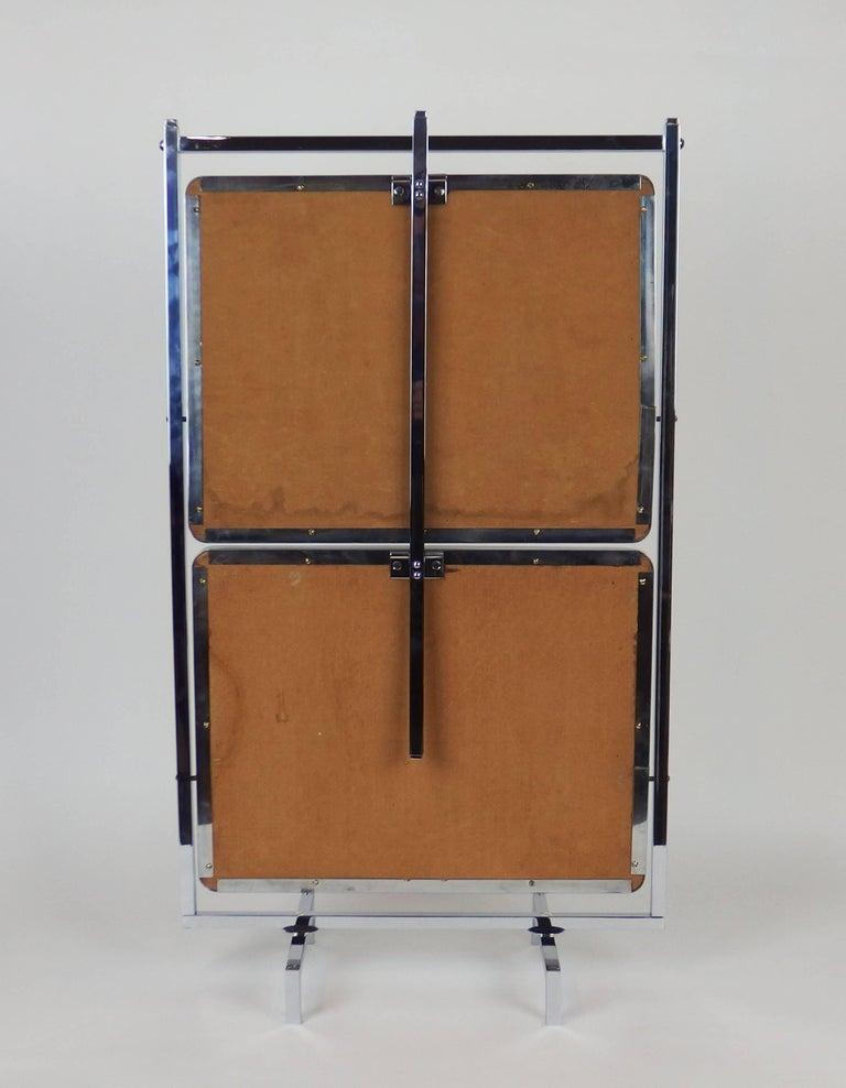 Mirror Art Deco Modernist Dessert Table by Jean Boris Lacroix For Sale