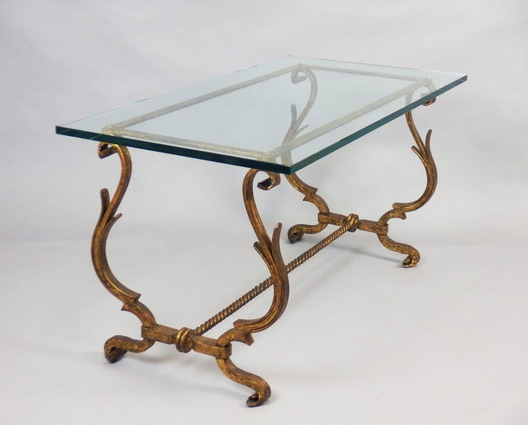 1940s wrought iron coffee table for sale at 1stdibs for Wrought iron coffee table for sale