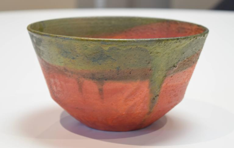 Striking ceramic bowl by the mid-century master. Signed Fantoni ITALY to base.