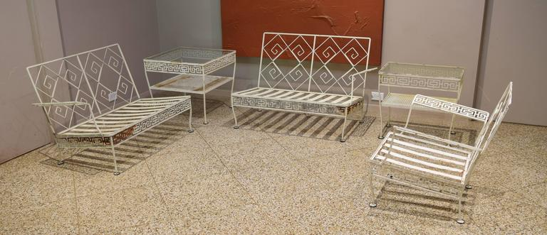 Meadowcraft Quot Athenian Group Quot Five Piece Patio Set At 1stdibs