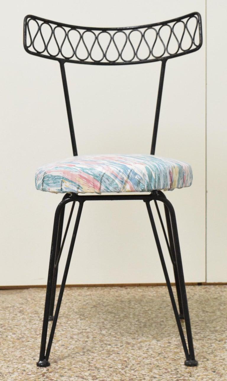 Salterini Bistro Chairs In Good Condition For Sale In Princeton, NJ