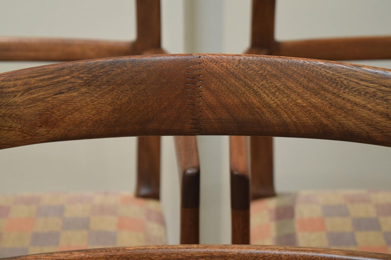 Sculpted Chairs by Ole Wanscher For Sale 2