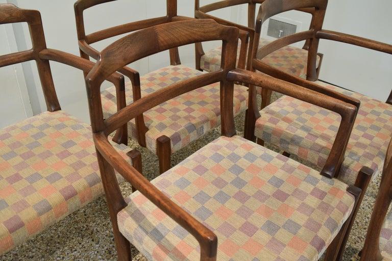 Scandinavian Modern Sculpted Chairs by Ole Wanscher For Sale