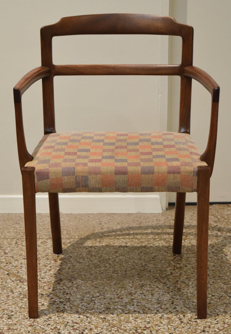 Danish Sculpted Chairs by Ole Wanscher For Sale