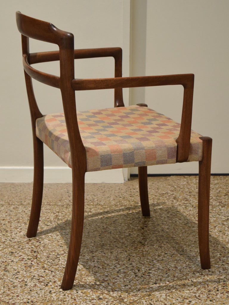 Upholstery Sculpted Chairs by Ole Wanscher For Sale