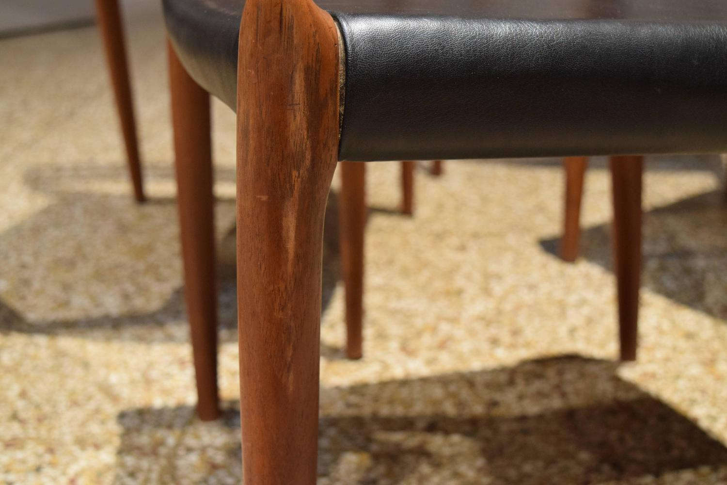 Vintage Moller 78 Chairs In Teak For Sale At 1stdibs