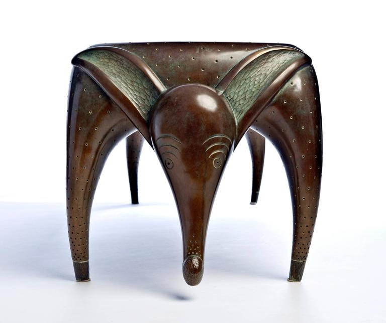 Timid Dog Bench By Judy Mckie For Sale At 1stdibs