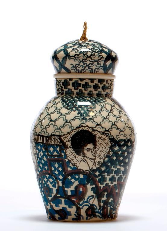 Contemporary Homage to Them Decorative Porcelain Jar   2