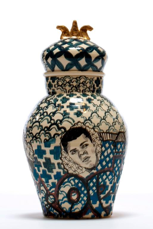 Contemporary Homage to Them Decorative Porcelain Jar   3