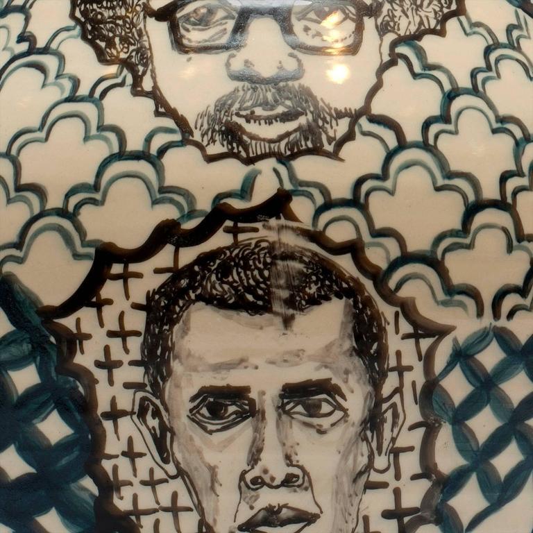 Contemporary Homage to Them Decorative Porcelain Jar   5