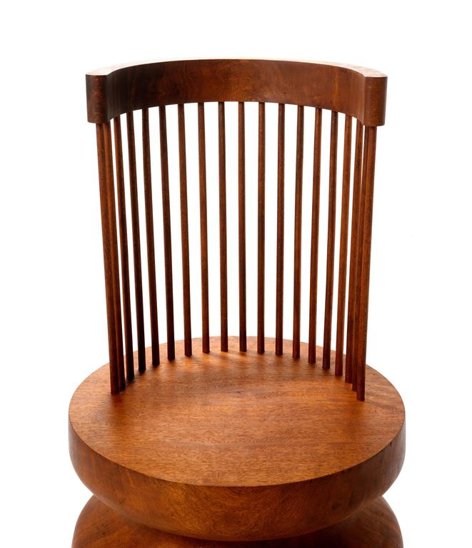 Korean Contemporary Mass Chair #1 In Solid Kwila Wood Chair For Sale