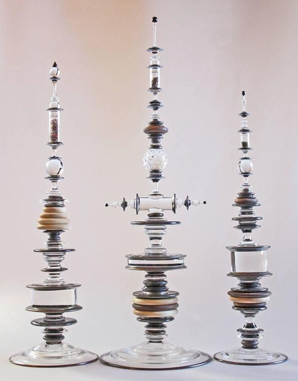 American Reliquary Group Sculpture in Blown Glass by Andy Paiko For Sale