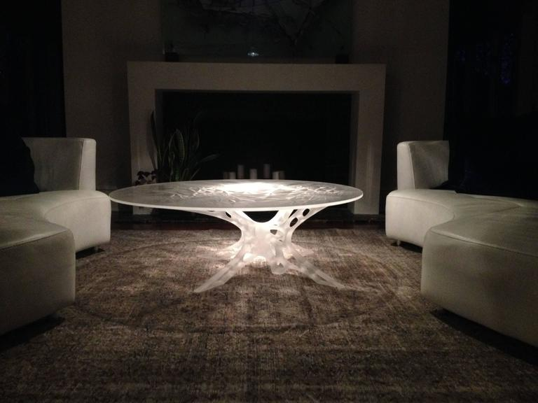Contemporary Chimeric Table in Acrylic For Sale 1