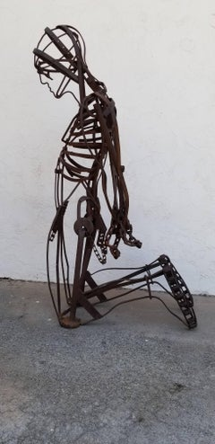 Life-Sized Assemblage Iron Figural Sculpture