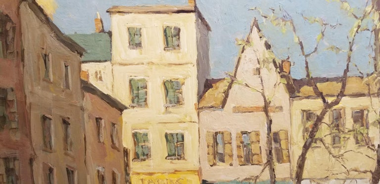 American Post-Impressionist Painting of Paris, France by Fred Korburg For Sale