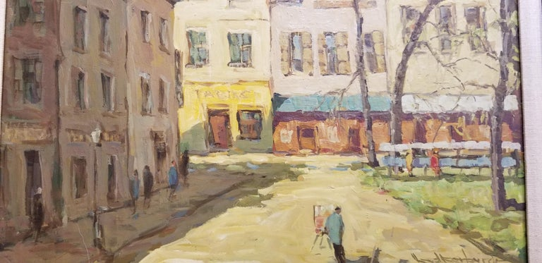 Post-Impressionist Painting of Paris, France by Fred Korburg In Excellent Condition For Sale In Fulton, CA